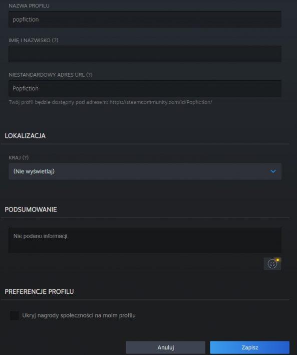 Jak zmienić nazwę konta Steam?